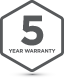 Badge 5Yr Warranty